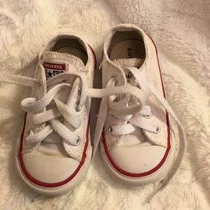 Toddler Size 5 White Converse